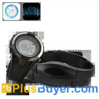 China Heart Rate Monitor with Wrist Stop Watch and Chest Belt on sale