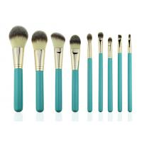 China  Eco Complete Natural Foundation Eye Makeup Brushes Professional Set 9pcs  for sale