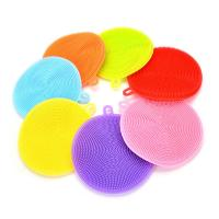 Buy cheap New Silicone Dish Washing Double Sided Scrubber Kitchen Cleaning Brush Pad Tool product