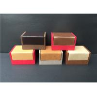 China Luxury Mens Cufflink Gift Boxes , Professional Wooden Cufflink Storage Box wholesale