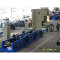 China 45 Degree Cutting Multi Punching Cable Tray Roll Forming Machine For SteelDoorFrame on sale