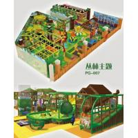 Indoor soft playground in fantasy colors design and games for kids in forest theme