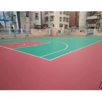 China Tennis / Badminton Court Synthetic Flooring , 3mm Recycled Basketball Court Flooring on sale