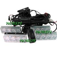 Buy cheap Auto LED Grille Lamp led strobe light flashing alarm led lamp 8W amber white from wholesalers