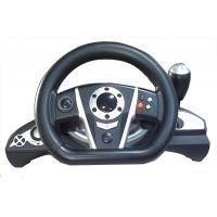 Buy cheap 2.4G RF Wireless Racing Video Game Steering Wheel With Receiver / F1 Gear Shift product