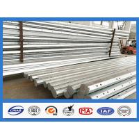 Buy cheap 25FT - 45FT 15KV Octagonal Hot Dip Galvanized Steel Pole , Electric Power Pole product