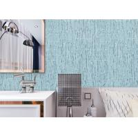 Buy cheap Soundproof Contemporary Wall Covering Durable With Sky Blue Color , Non Woven Materials product