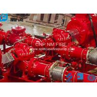 Quality Single Stage Double Suction Centrifugal Fire Pump , Horizontal Split Pump 500GPM@120 PSI for sale