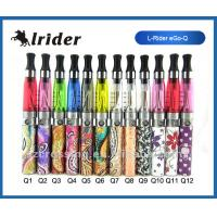 Buy cheap Stainless Ego Mini E-Cigarettes Colorful Flower Design With Refillable Clearomizer Tank System from wholesalers