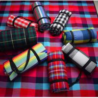Buy cheap Acrylic Fabric Checkered Picnic Floor Mat With Waterproof PEVA Backing product