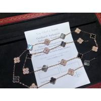 Buy cheap Rose Gold Diamond Van Cleef Jewelry , Vintage Alhambra Necklace 20 Motifs product