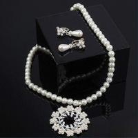 Buy cheap Charm Pearl Necklace and Earrings Set, Customized Designs and Specifications are Accepted product