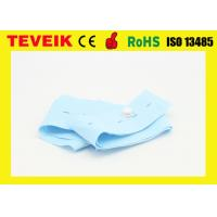 china belt manufacturer disposable CTG belt blue color with buttonhole 5.3cm x 1.2m