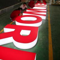 Buy cheap customer bought New 3d outdoor acrylic light letter signage for sale product