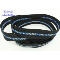Buy cheap Rainbow Teeth Long Chain Zipper In Roll Black Cotton Tape Customized For Clothes product