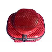 Buy cheap Customized Red EVA Cosmetic Bag Zip Lock , Portable Makeup Case For Travel product