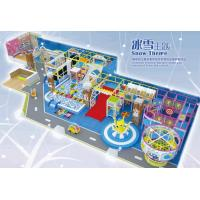 Buy cheap Indoor soft playground in snowy design  for kids with snow theme product