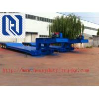 Buy cheap SHMC Loading Construction Machines Hydraulic Flatbed Semi Trailers 3 Axles 80 Tons 17m product