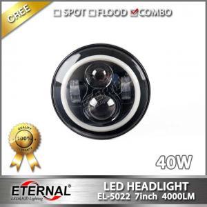 China 7in 40W LED headlight offroad led projector headlamp signal PAR56 for Wrangler JK CJ TJ truck trailer vehicle headlamp on sale