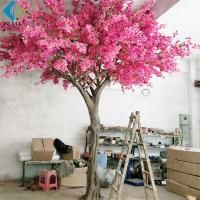 Buy cheap Large Artificial Flower Tree , Pink Bougainvillea Flower Tree For Wedding Party product