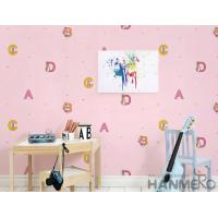 Buy cheap Modern English Letters Kids Bedroom Wallpaper Pink Color Wallcovering product