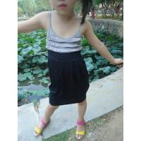 Buy cheap Classy Summer Lovely Girls Pleated Dress , Black Girls Spaghetti Strap Dress from wholesalers