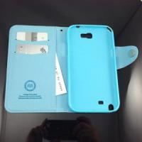China Simple Style Series Synthetic PU Galaxy Note Ii Wallet Case (WF-S70006) on sale