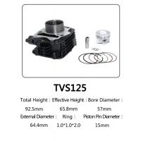 Buy cheap Indian Model TVS 125 Motorcycle Big Bore Cylinder Kits With Anti Corrosion product