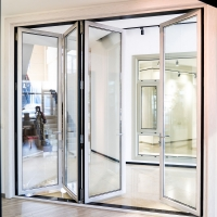 Buy cheap White Powder Coated T5 Aluminum Folding Doors For Patio from wholesalers