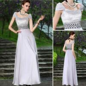 Buy cheap A Um-linha vestidos de noite do decote da colher dos tampões da luva do comprimento do assoalho/damas de honra maduros veste-se product