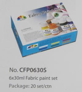 Buy cheap Washable Art Painting Colours Fabric Paint Set For Kids 6 X 30ml 6 Colors Per Set product