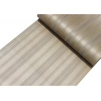 China Golden Color Living Room Striped Wallpaper , Home Decorating Wallpaper OEM Accepted on sale