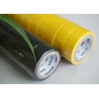 Buy cheap High Strength Yellow / Black PVC Electrical Tape Flame Retardant 0.13MM Thickness product