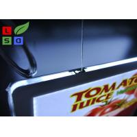 Buy cheap Removable Magnetic Crystal LED Light Box Display A3 A4 Poster Size Hanging Power Wire System product