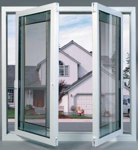 Buy cheap White Aluminium Swing Window Hidden Frame Structure Glass 5mm-12mm Thickness product