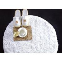 Buy cheap Washable White Waffle Disposable Spa Slippers , Disposable Hotel Bathroom / Guest House Slippers  product
