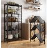 Buy cheap Black white fold Light Duty Metal Frame Shelf Goods Rack for kitchen office from wholesalers