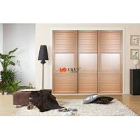 Buy cheap Professional Bedroom Armoire Sliding Louver Door , 15mm Laminated MDF UV Board product