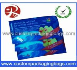 China Creative Custom Packaging Bags , Plastic Printing Colour Wet Wipe Bag on sale