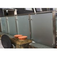 Buy cheap Exterior Frosted Stainless Steel Glass Railing With Square Post , Strong Sense Of Security product