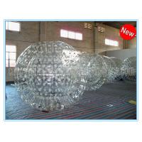 Quality PVC Clear Inflatable Zorb Ball / Inflatable Human Hamster Ball For Inflatable Zorb Ramp for sale