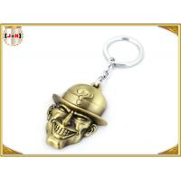 Buy cheap Brass Plated Metal Key Ring , Customised Key Chains With Free Laser Engraved Logo product
