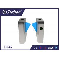 Buy cheap Durable Retractable Flap Barrier Turnstile Biometric Access Control System product