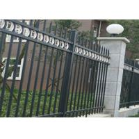 Buy cheap Three Beams Zinc Steel Fence Single Ring For Bounding Wall , 50*50mm Rail product