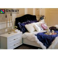 Buy cheap White Wood Beds Wooden House Furniture Colors for Bedroom / Living Room product