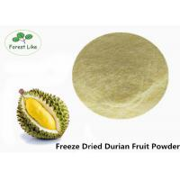 Buy cheap Dehydrated Unsweetened Durian Freeze Dried Fruit Powder Food Grade product