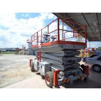 Buy cheap 11000mm steel Scissors aerial working platform 500kg DC 24V removable for industry product