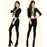 Buy cheap Burgundy Cream Womens Cotton Tights , Adults Polyester Cotton Spandex Leggings product