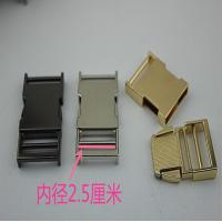 Buy cheap Fashion Metal Material Zinc Alloy Nickel Color 25 Mm Quickly Release Buckles For Webbing product