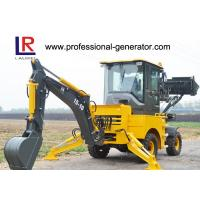 Buy cheap 1000kg Load Heavy Construction Machinery / Mini Backhoe Wheel Loader With 0.15 bucket 37kw product